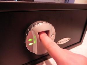 Barska Biometric Safe - Green light